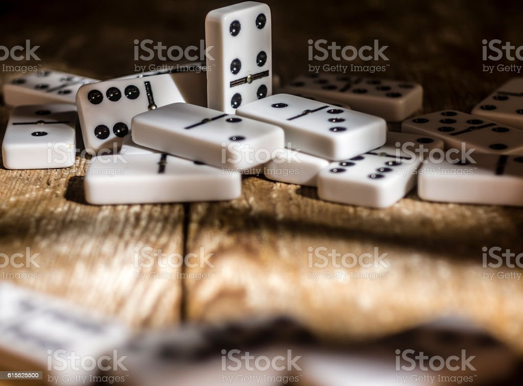 Dominos stock photo