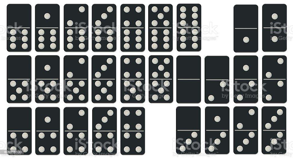 Dominoes Set stock photo