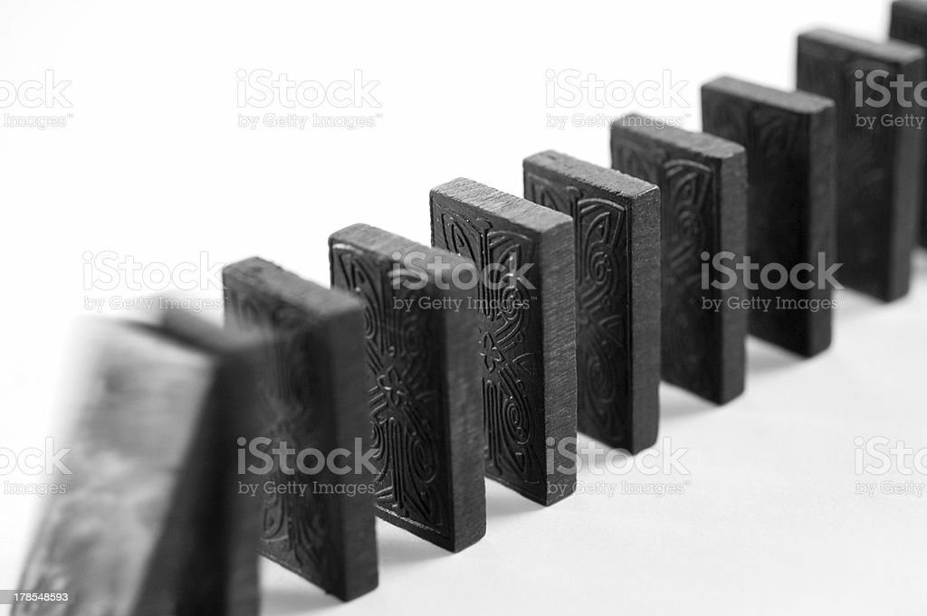 Dominoes Topple stock photo