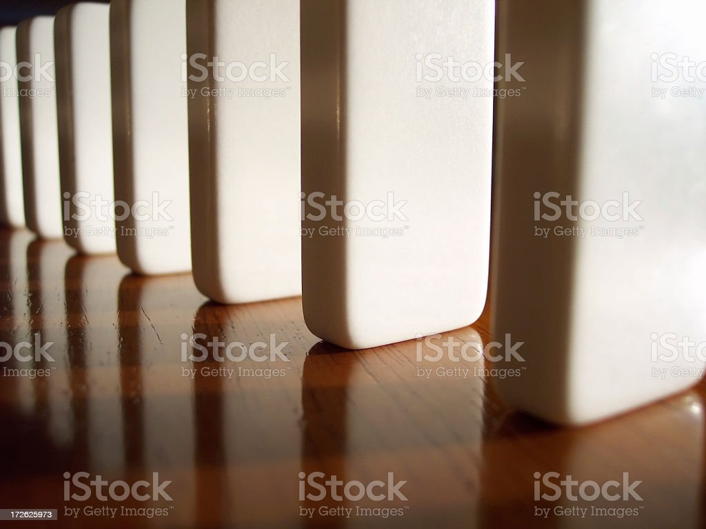 Dominos - 3/4th View royalty-free stock photo