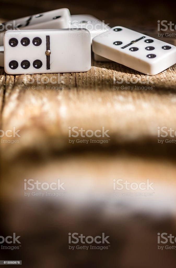 Dominos couchés stock photo