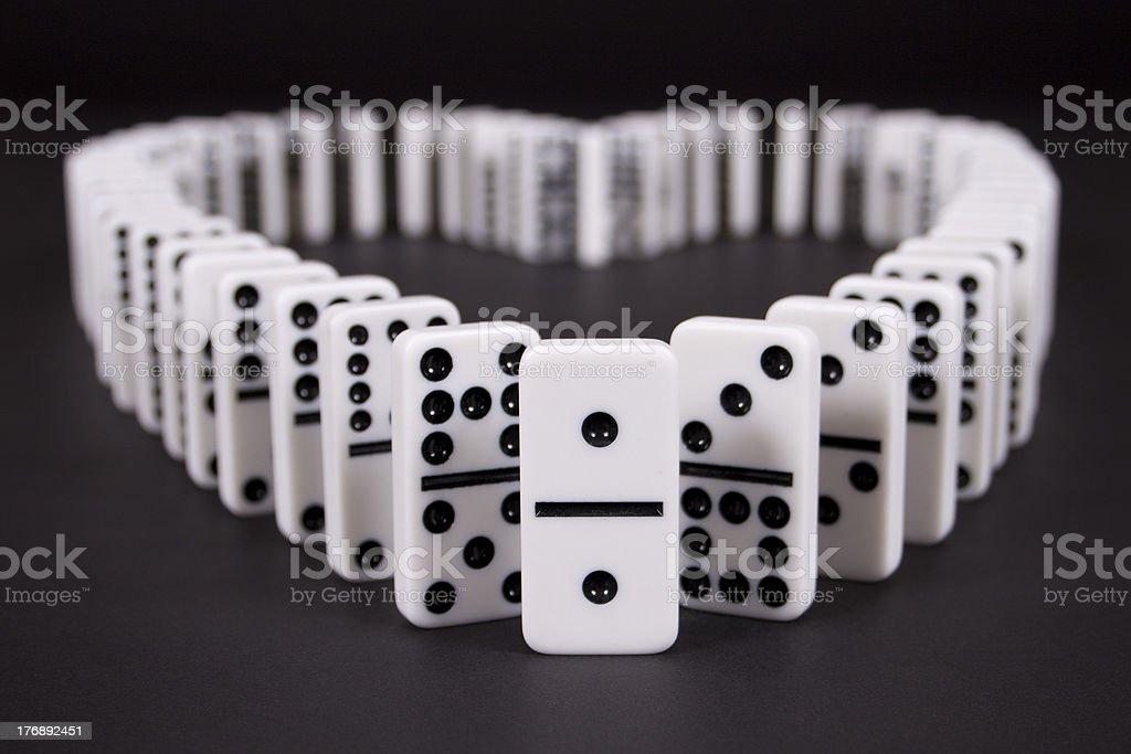 Dominos in Heart Shape stock photo