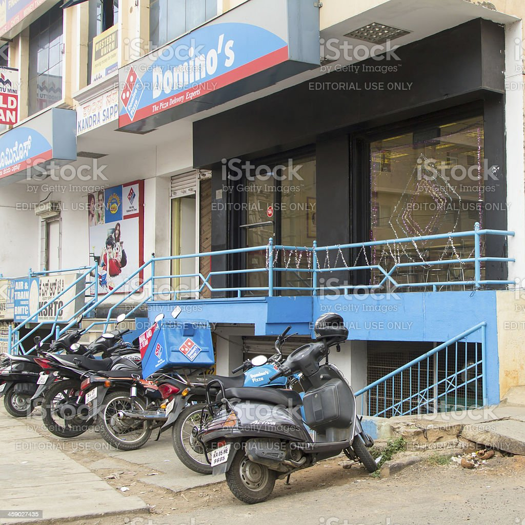 Domino's Pizza restaurant in Bangalore royalty-free stock photo