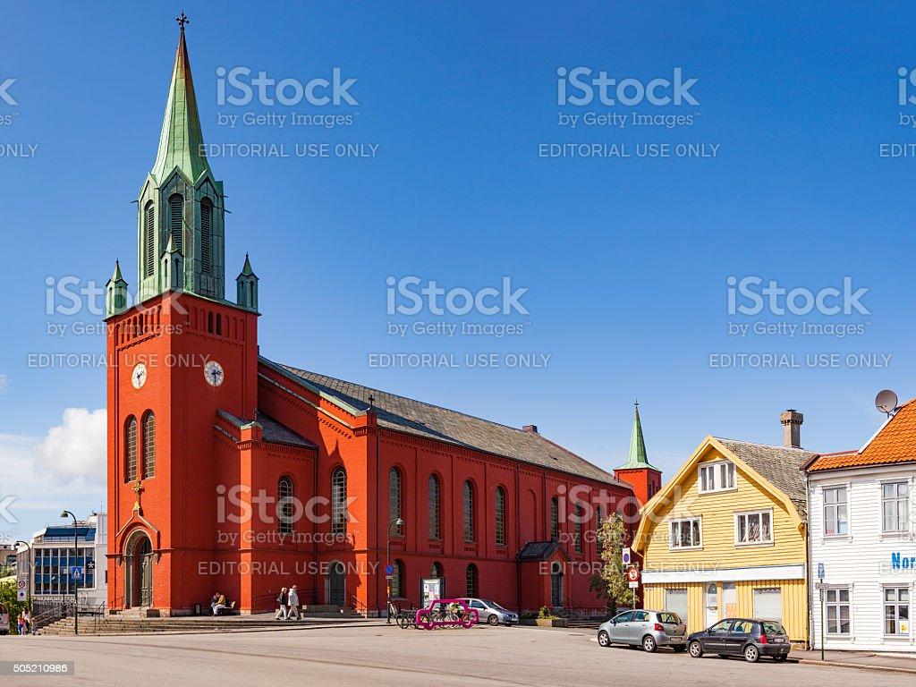Domkirken in Stavanger city stock photo