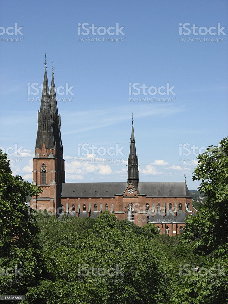 Domkyrkan in Uppsala royalty-free stock photo