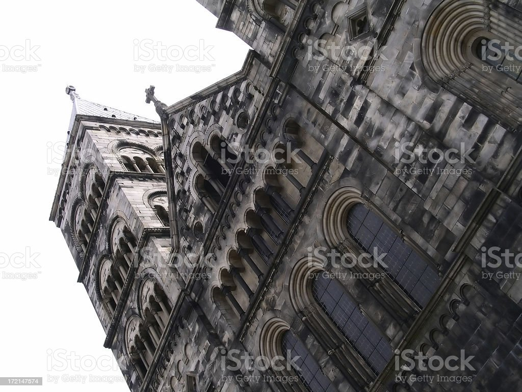 Domkyrkan (Cathedral of Lund) royalty-free stock photo