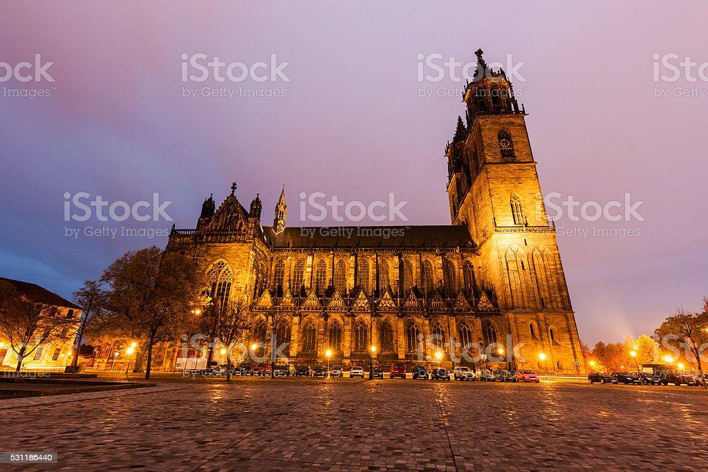 Domplatz in Magdeburg stock photo