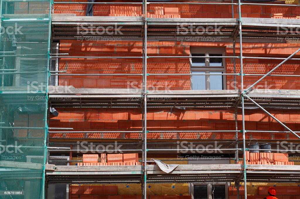 Dom-Roemer-Baustelle stock photo