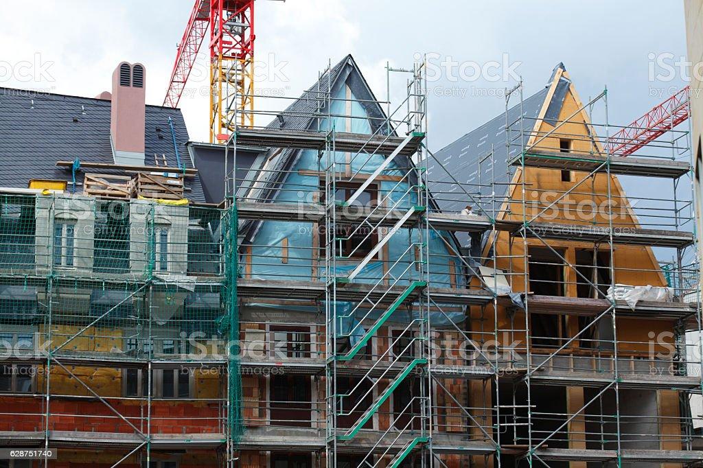 Dom-Roemer-Baustelle stock photo