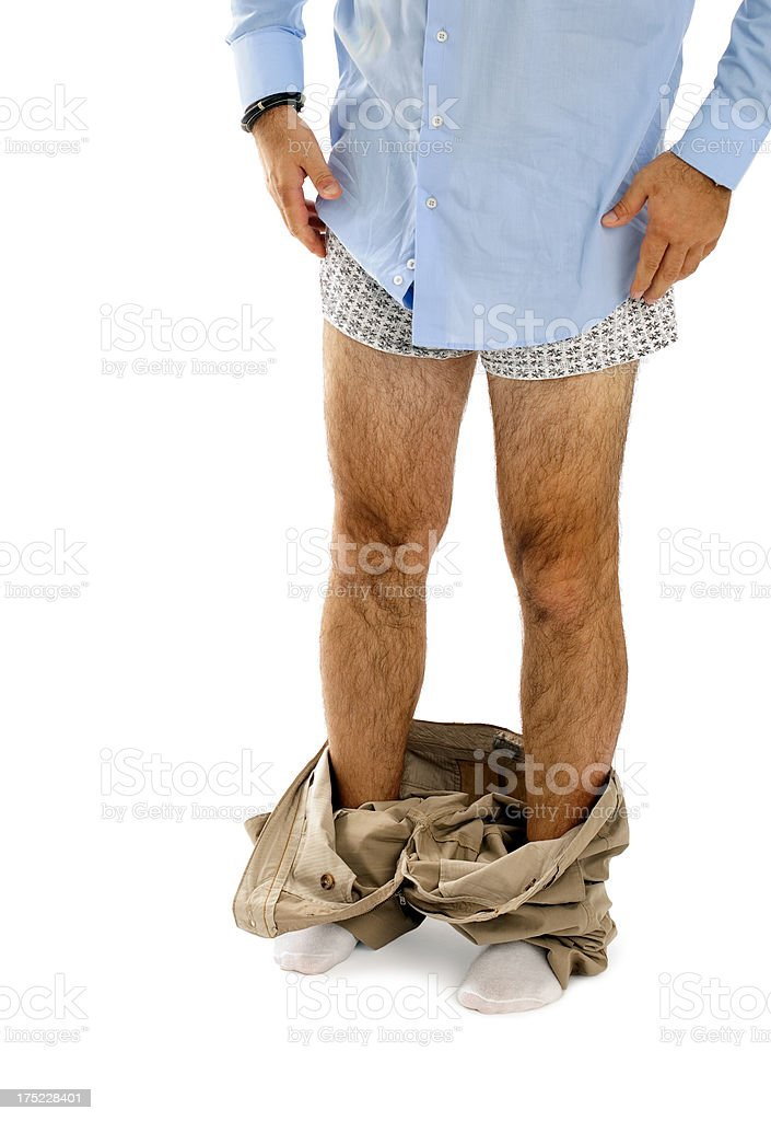 Don' get caught with your pants down royalty-free stock photo