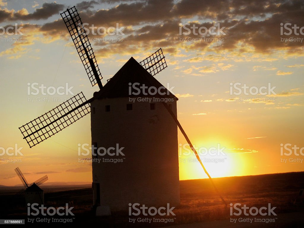 Don Quixote windmills. stock photo