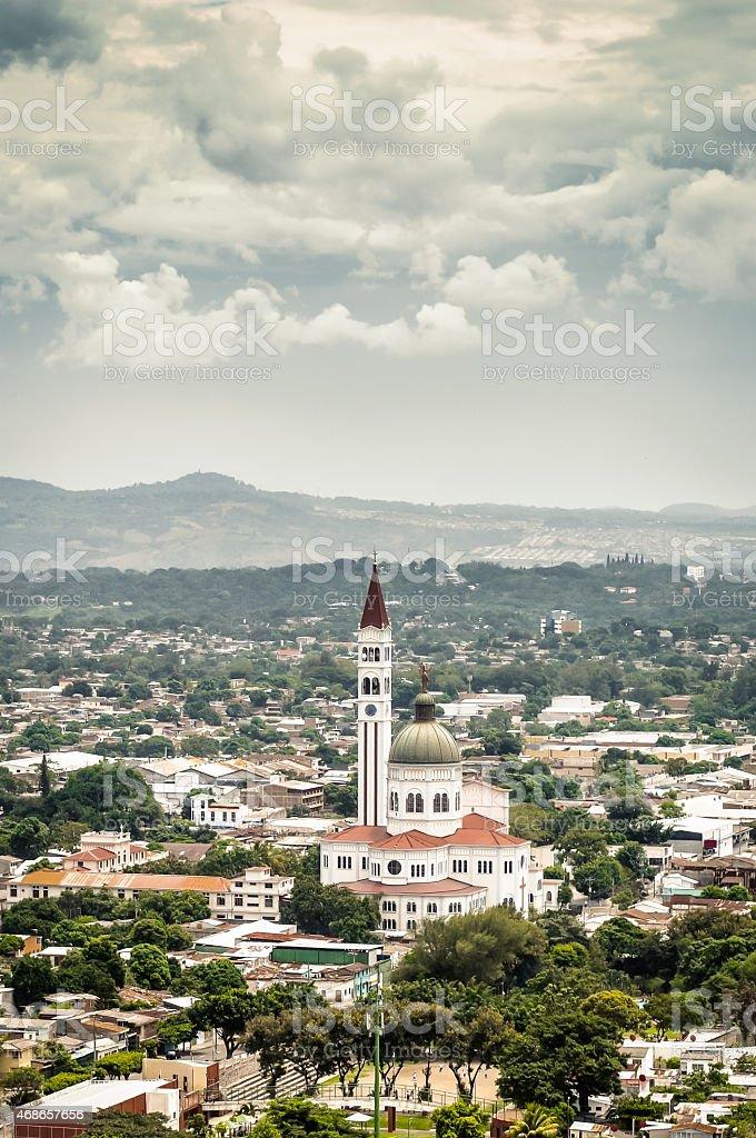 Don Rua Cathedral, El Salvador stock photo