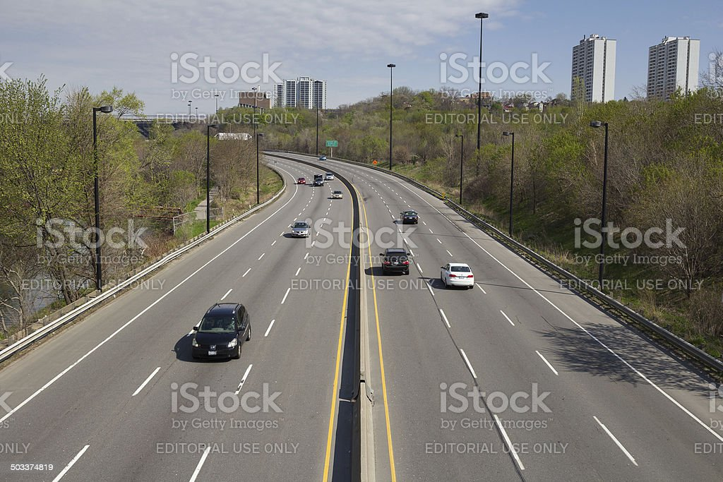 Don Valley Parkway stock photo