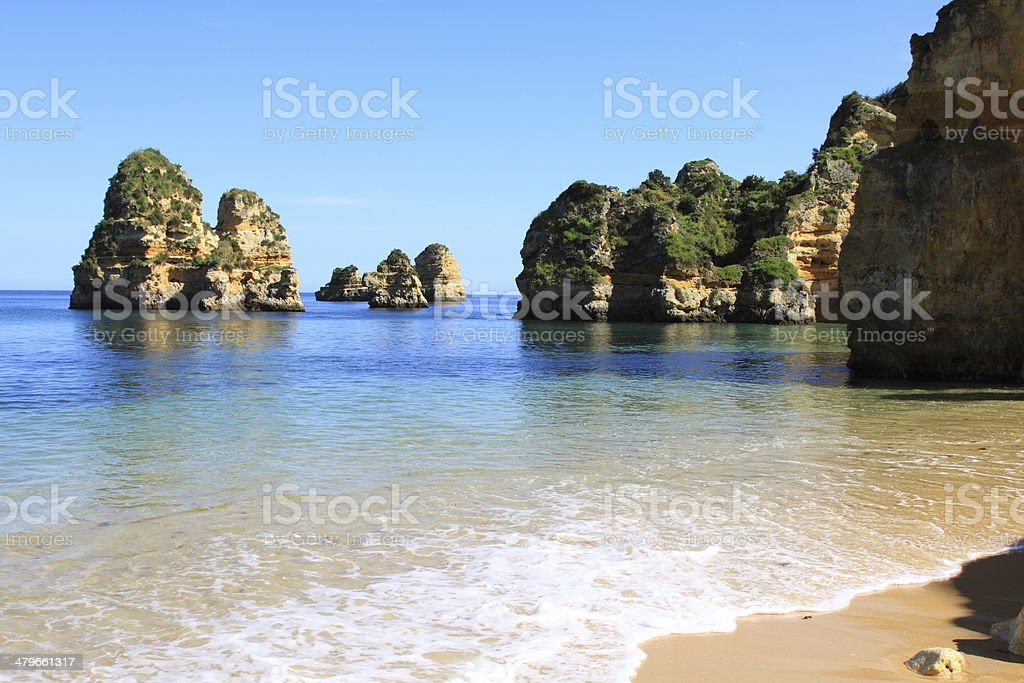 Dona Ana Beach in Lagos, Algarve, Portugal stock photo