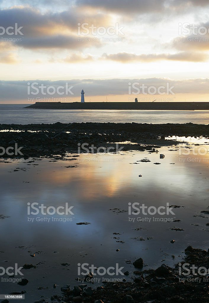 Donaghadee Coast and Harbour stock photo