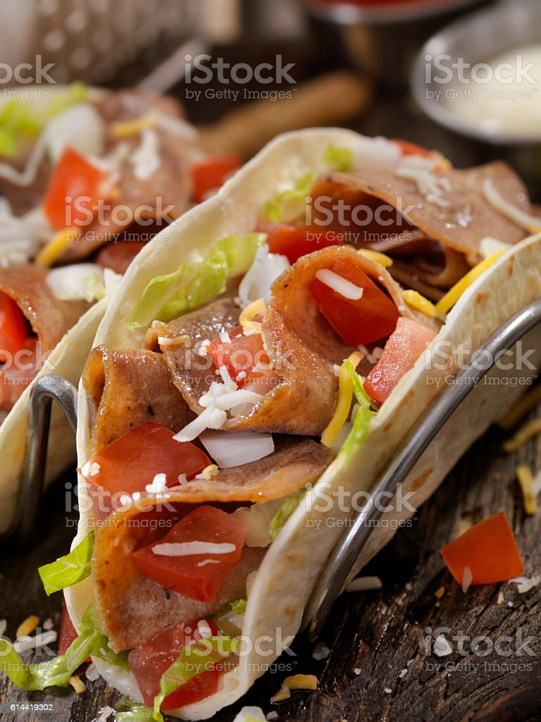 Donair with Fries stock photo