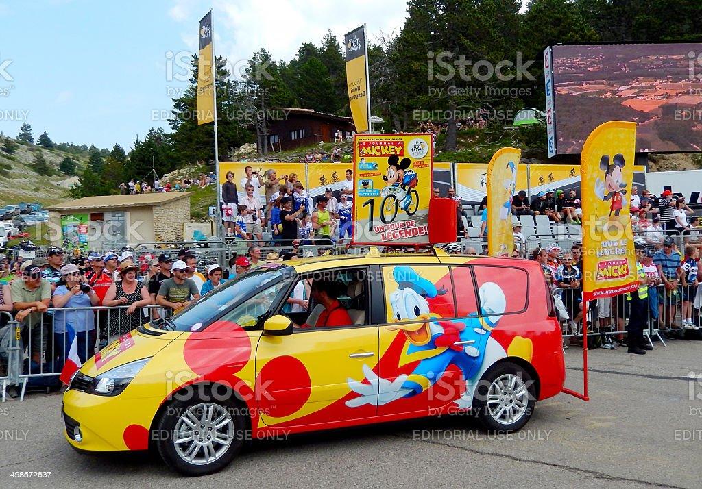Mickey Mouse und Donald Duck Tour de France 2013 Lizenzfreies stock-foto