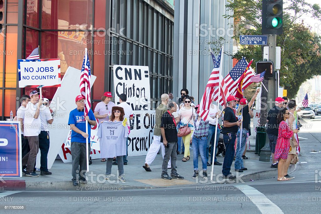 Donald Trump Rally in Hollywood stock photo