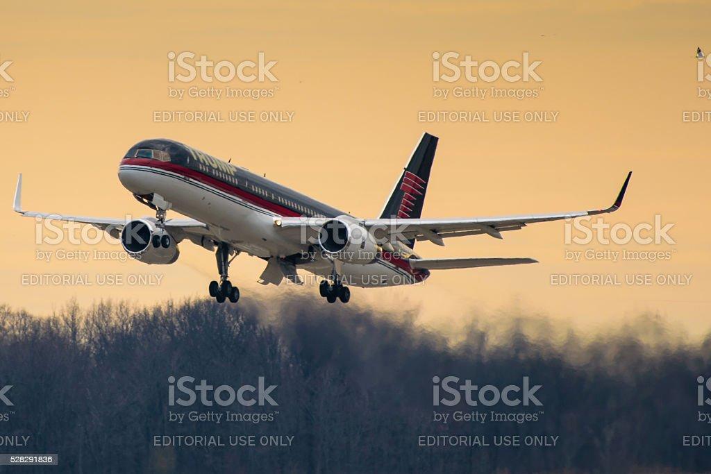 Donald Trump's Private Jet stock photo