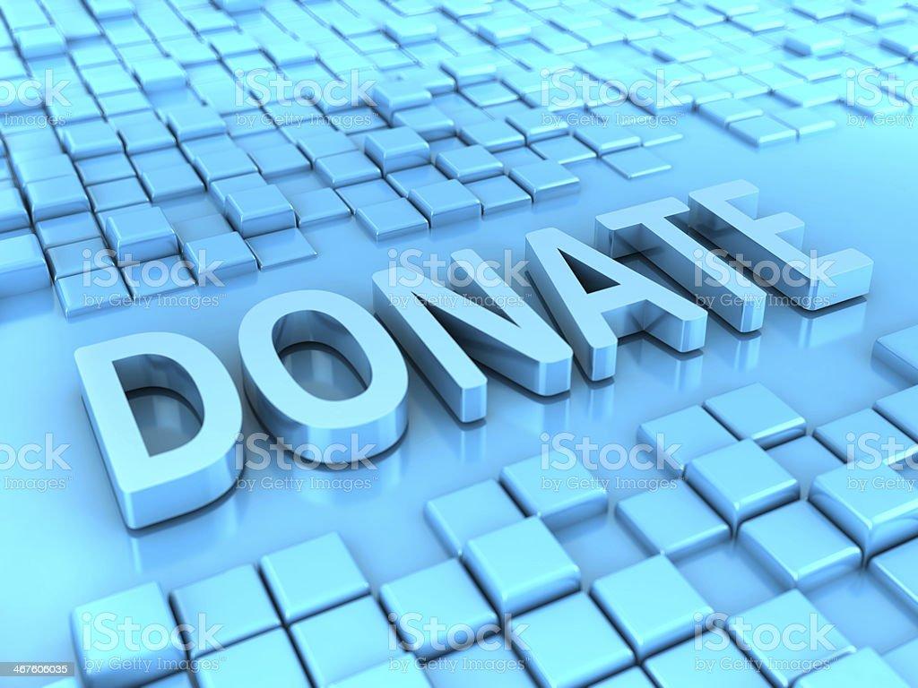 Donate royalty-free stock photo