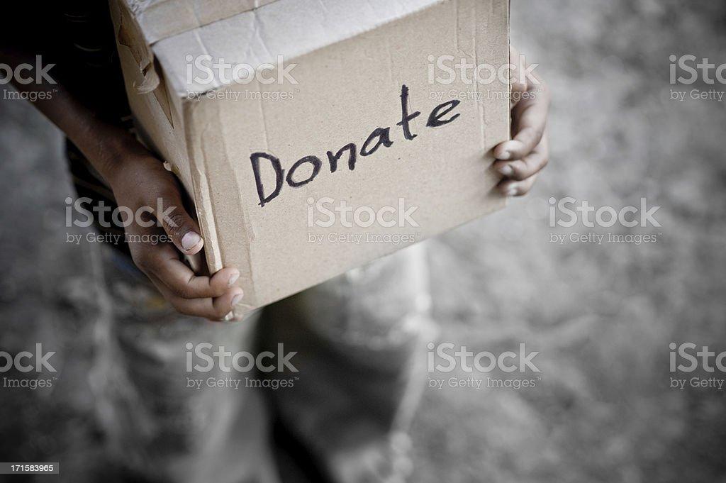 Donation Box stock photo