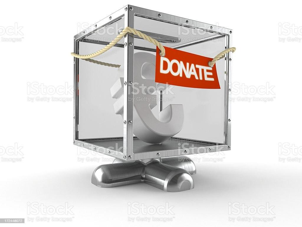 Donation box royalty-free stock photo