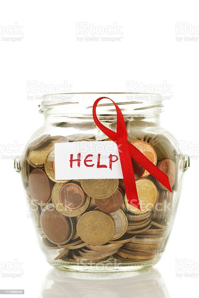 Donation glass jar royalty-free stock photo