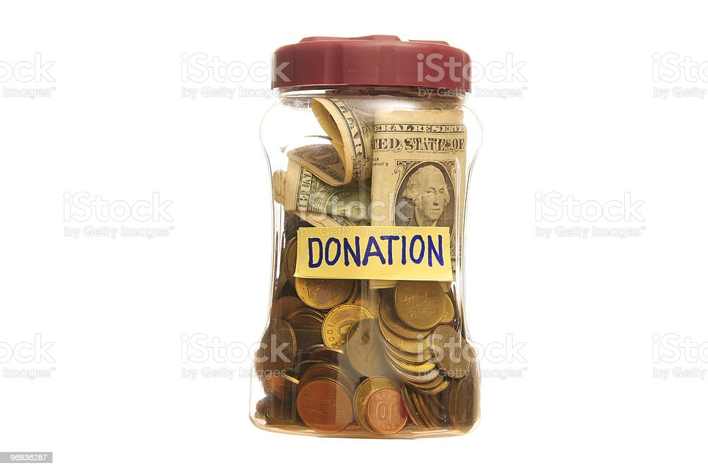 Donation in a Jar royalty-free stock photo
