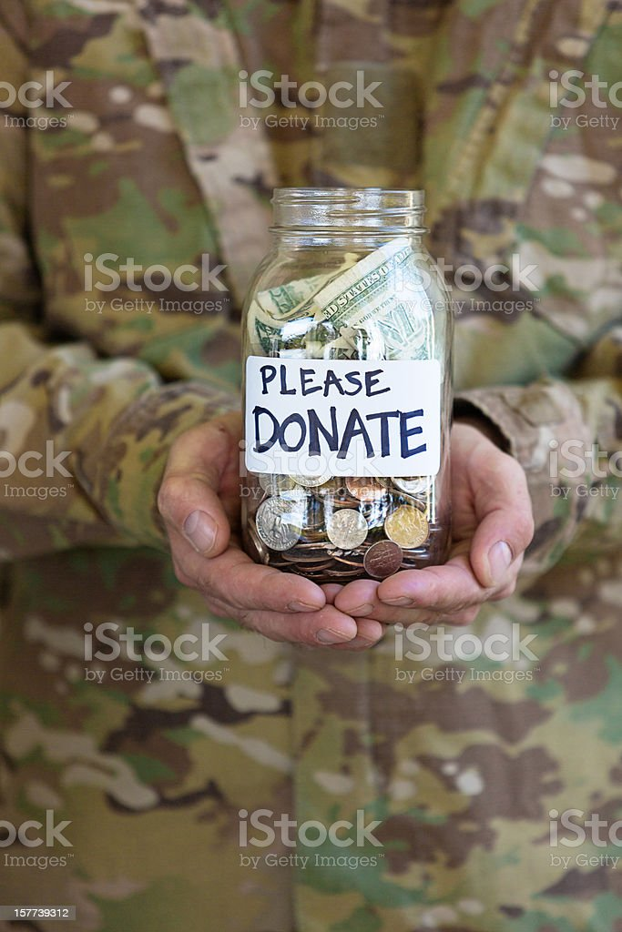 Donation Jar stock photo