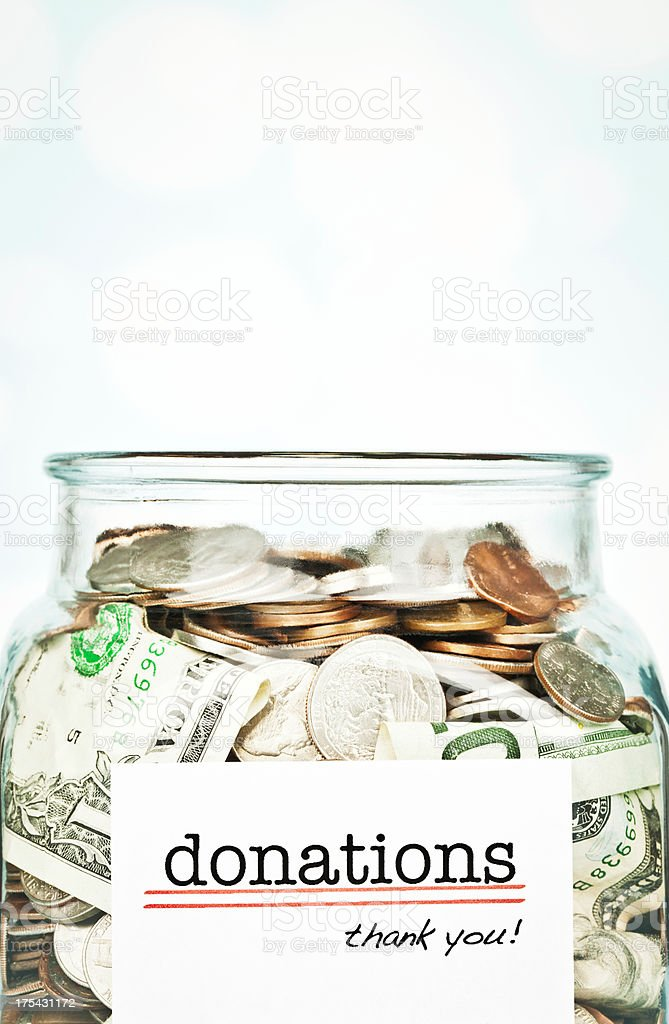 Donation Jar royalty-free stock photo