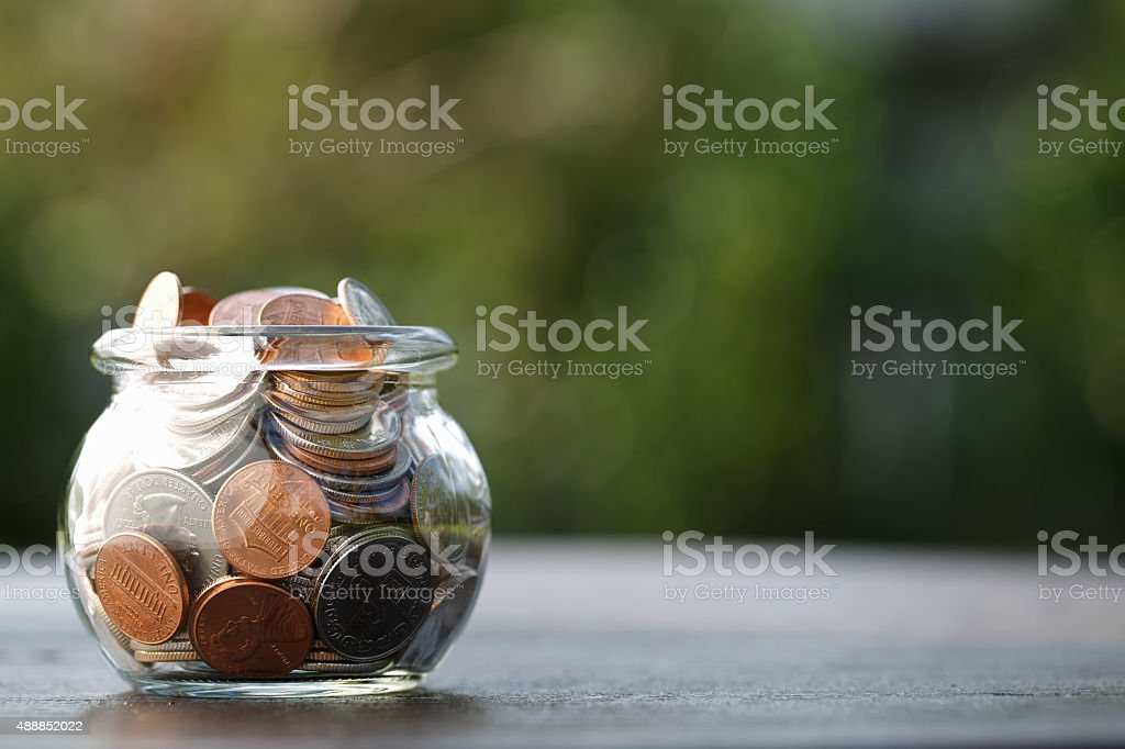 Donation Jar stock photo