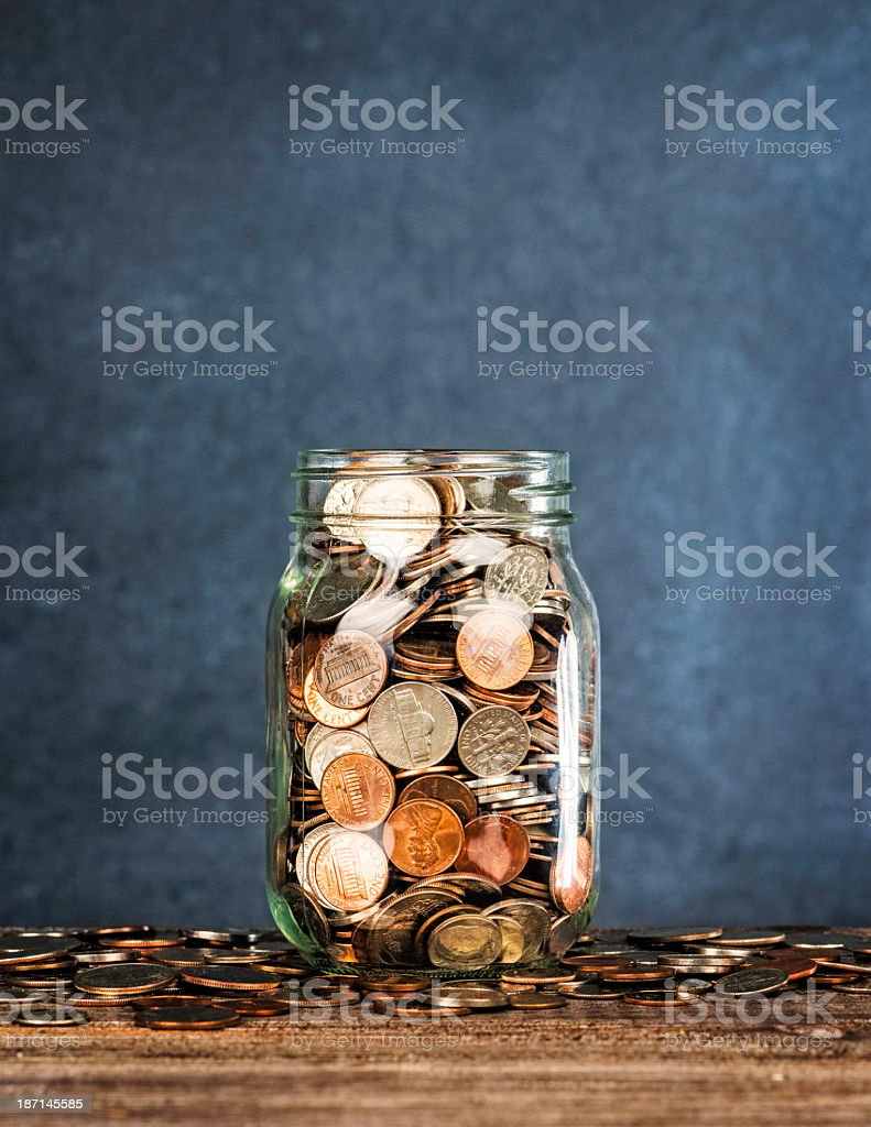 Donation Jar with Copy Space stock photo