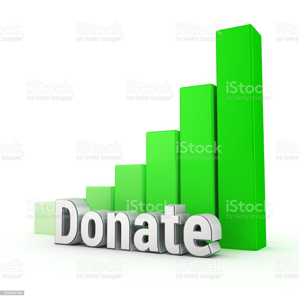Donation trend up stock photo