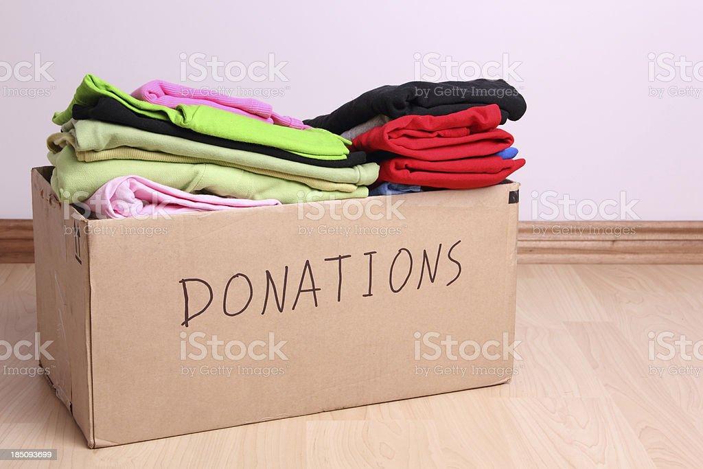 Donations box stock photo