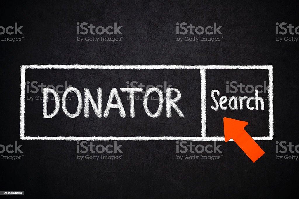 Donator search stock photo