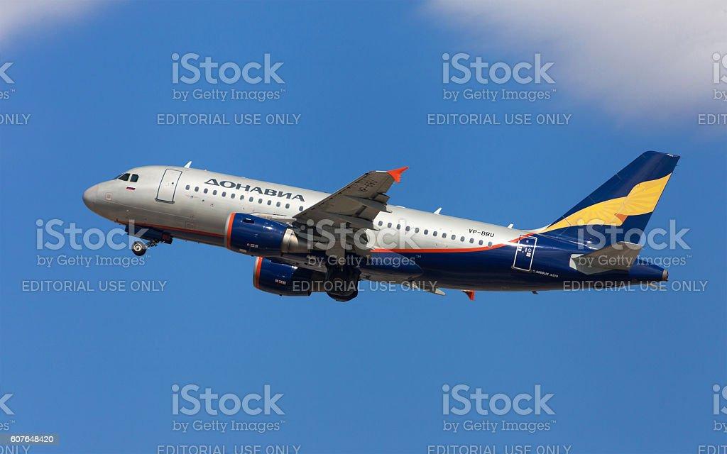 Donavia Airbus A319 stock photo