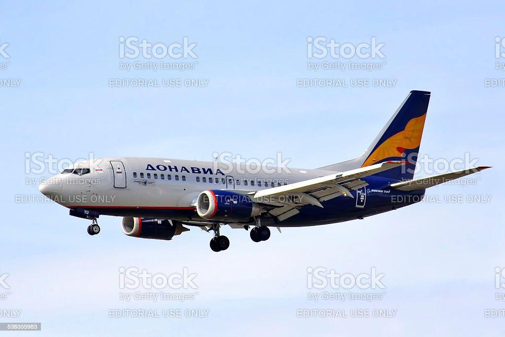 Donavia Boeing 737 stock photo