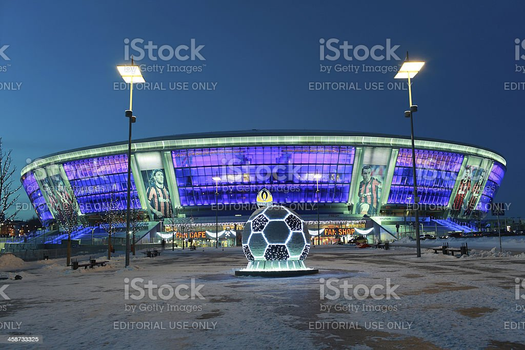 Donbass Arena stadium in Donetsk, Ukraine royalty-free stock photo
