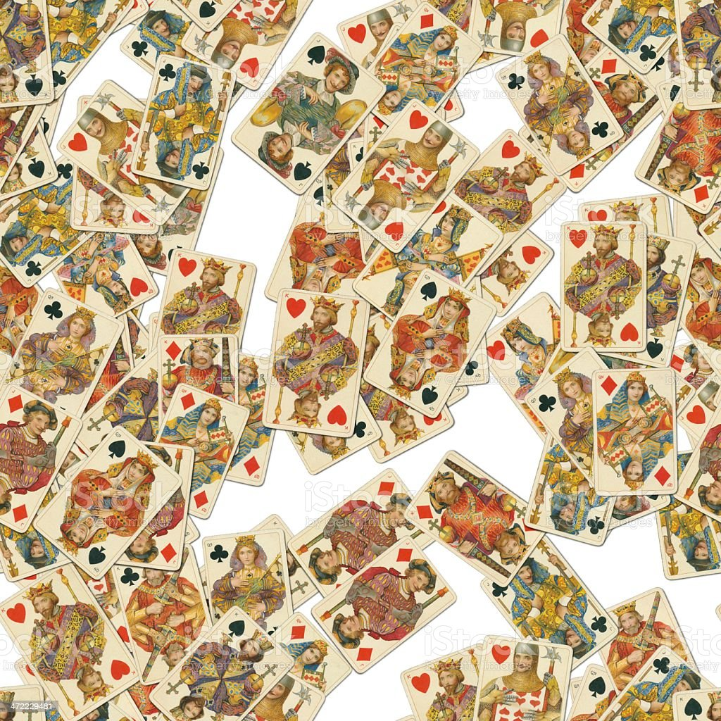 Dondorf Shakespeare playing cards seamless tile pattern stock photo