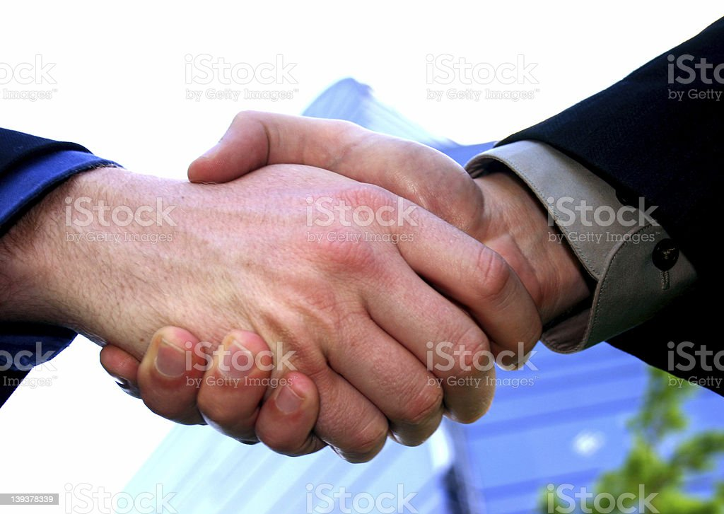 A Done Deal royalty-free stock photo