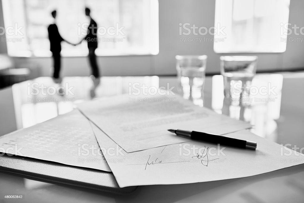 Done deal stock photo