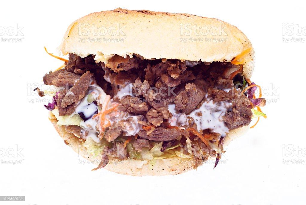 Doner kebab isolated stock photo