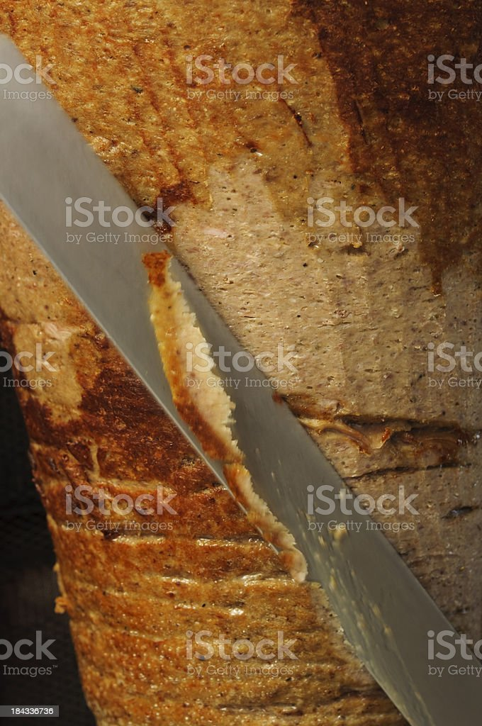doner kebab meat royalty-free stock photo