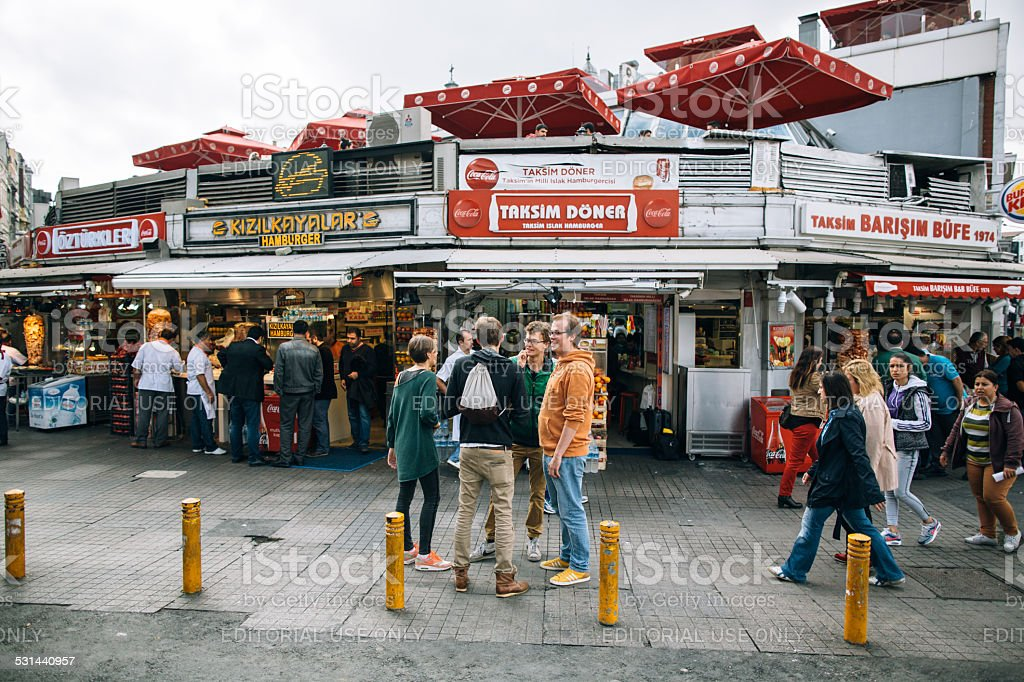 Doner kebab on Taksim stock photo