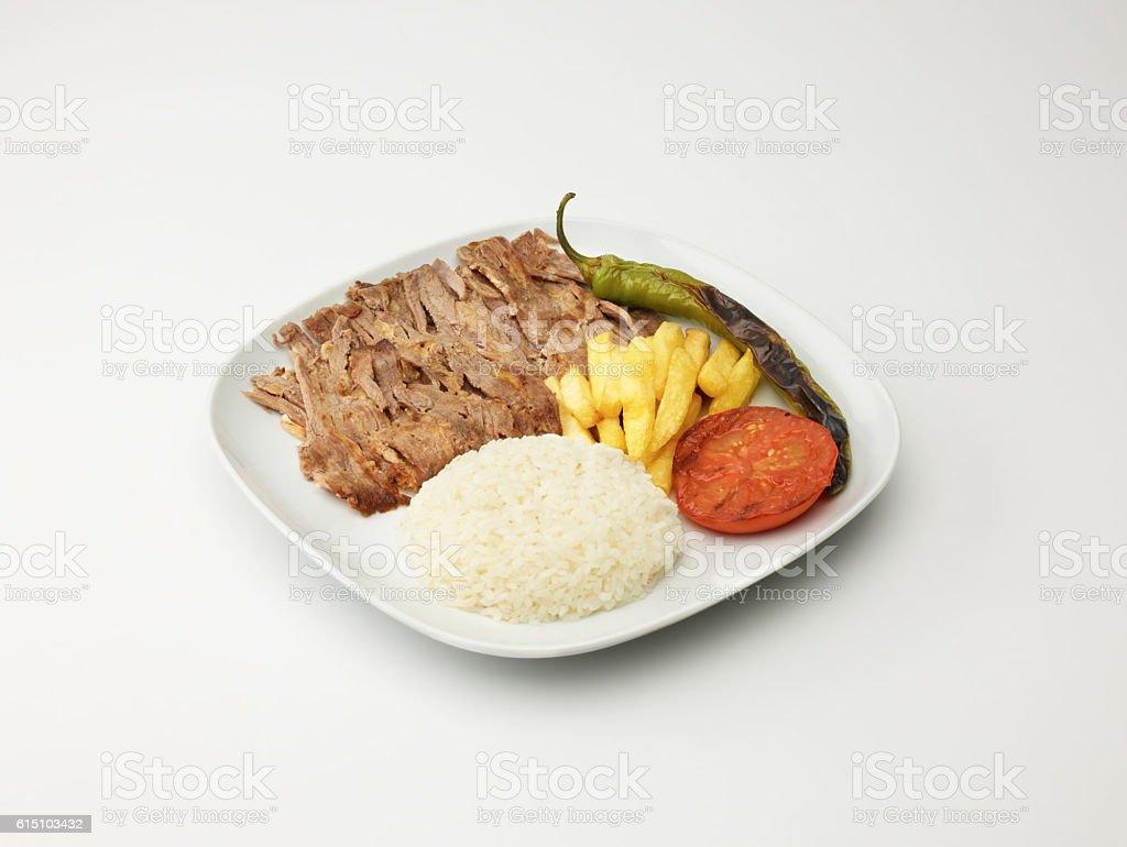 Doner Kebab On White stock photo