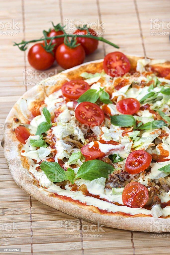 Doner Kebab Pizza royalty-free stock photo
