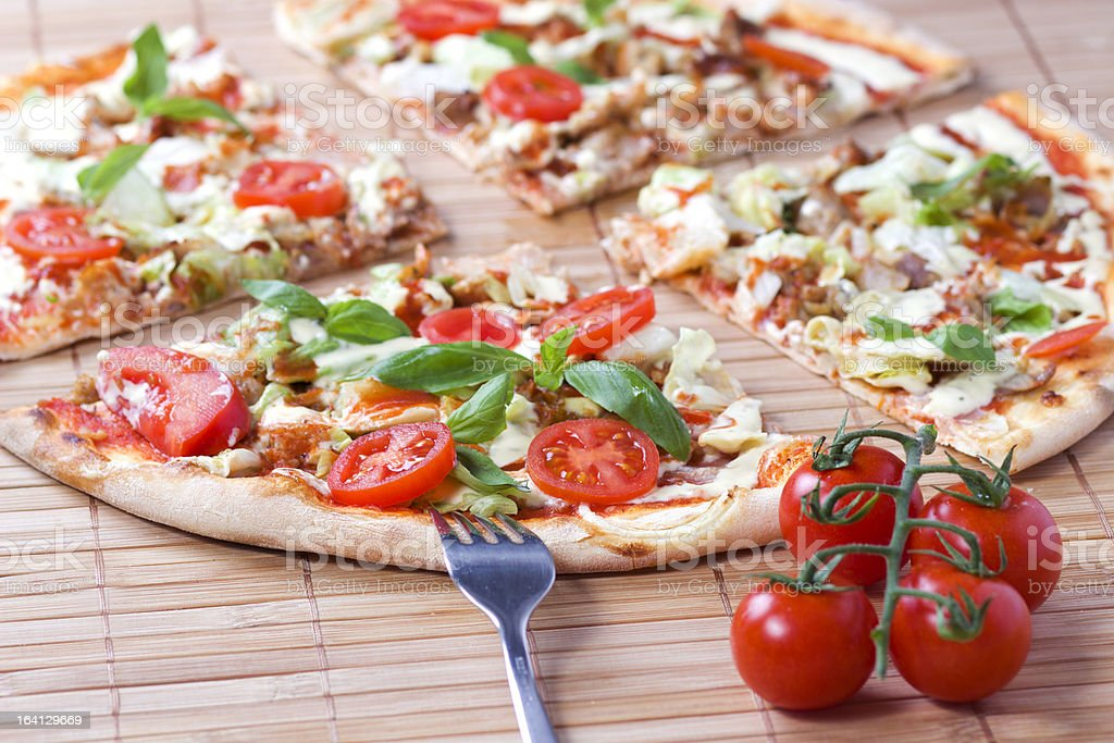 Doner Kebab Pizza royalty-free stock photo