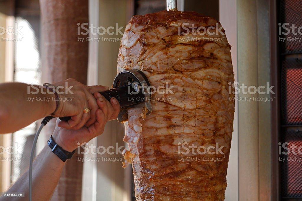 Doner, kebap, shawarma. stock photo