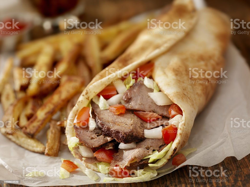 Doner Sandwich royalty-free stock photo