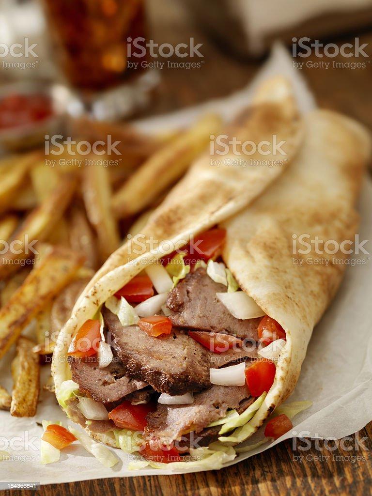 Doner Sandwich royalty-free stock photo